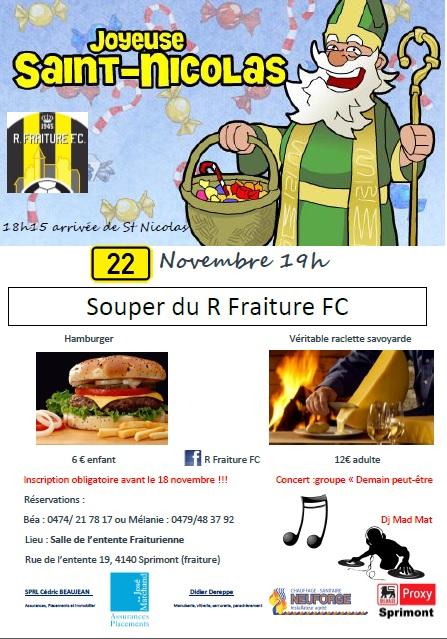 Souper R Fraiture FC - Saint Nicolas